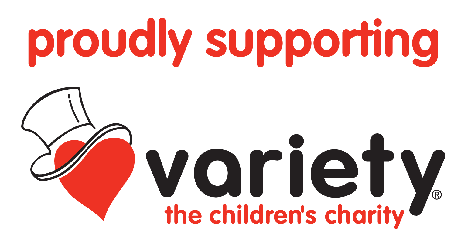 Proudly supporting Variety logo - horizontal