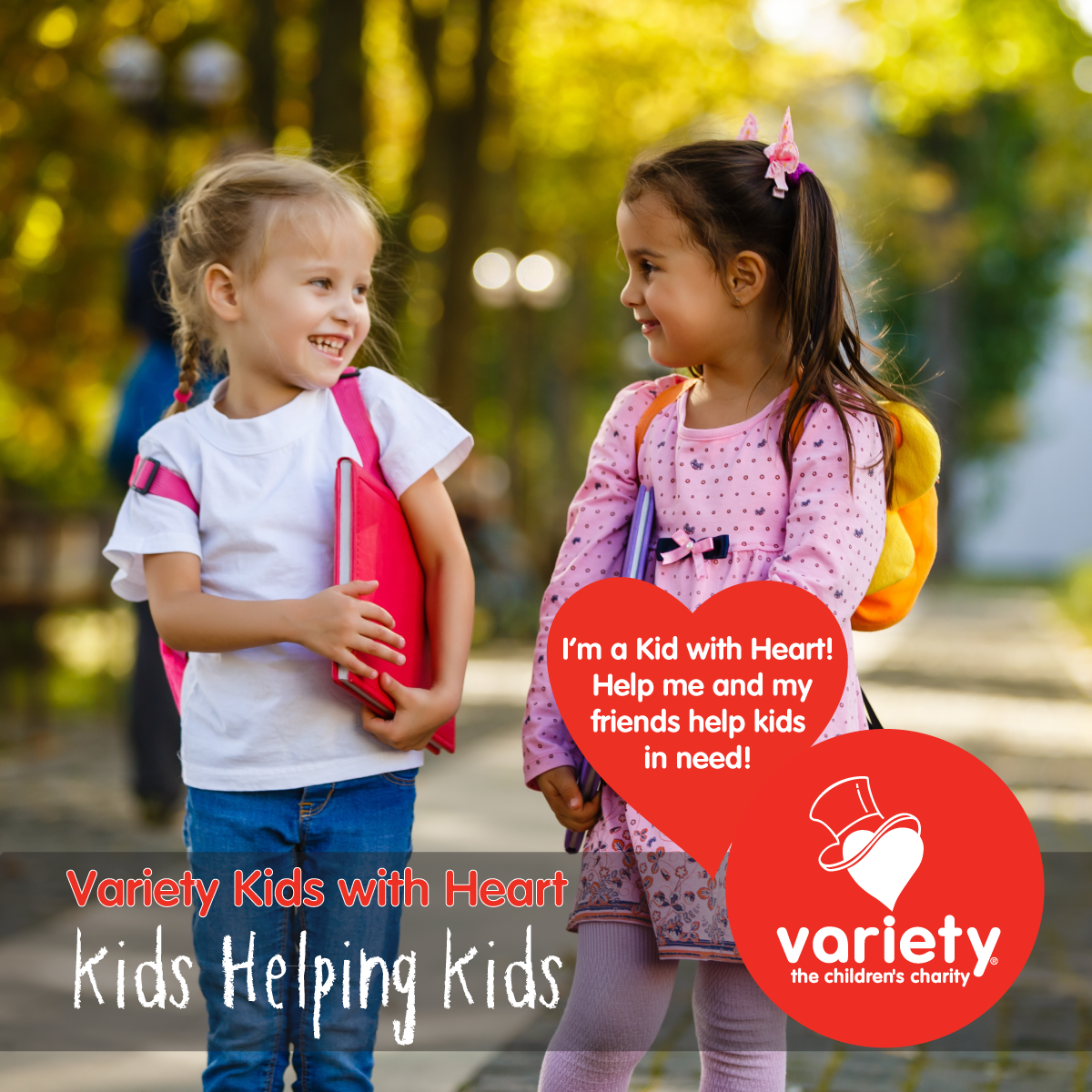Social tile - kids with heart 3