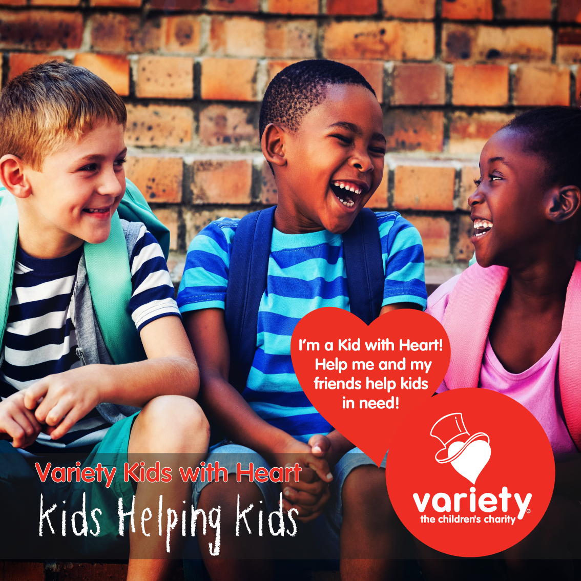 Social tile - kids with heart 2