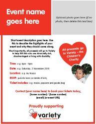Fundraising Event Invitation - Editable Template