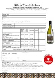 Killerby Wine Order Form